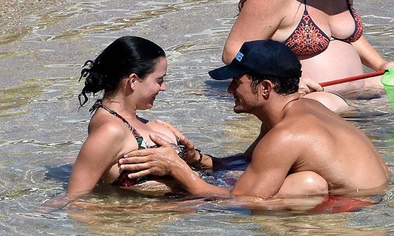 Orlando Bloom Gets Super Touchy Feely on Vacation With Katy Perry