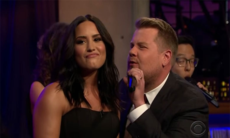 Demi Lovato Belts Out Adele, Katy Perry, and More in Epic Diva Riff-Off With James Corden
